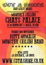 Cut A Shine and Friends Residency at Chats Palace - November with The Monster Ceilidh Band