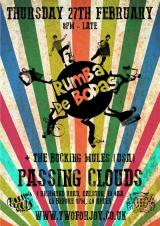 Rumba De Bodas + The Bucking Mules (USA) @ Passing Clouds